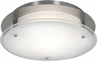 Access 50037LEDD-BS-FST Vision Round Modern Brushed Steel LED 12  Flush Mount Lighting Fixture