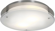 Access 50038LEDD-BS-FST Vision Round Modern Brushed Steel LED 16  Flush Mount Ceiling Light Fixture