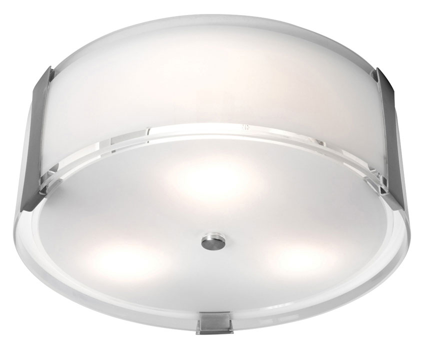 Access 50120-BS Tara Brushed Steel Contemporary Flush Mount Ceiling ...