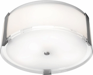 Access 50120LEDDLP-BS-OPL Tara Modern Brushed Steel LED 14  Overhead Light Fixture