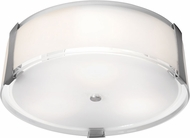 Access 50121-BS-OPL Tara Modern Brushed Steel 18  Overhead Lighting Fixture