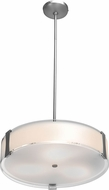 Access 50123LEDD-BS-OPL Tara Contemporary Brushed Steel & Opal Glass LED Drum Hanging Pendant Light