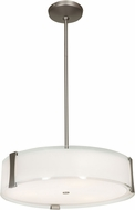 Access 50123LEDDLP-BS-OPL Tara Modern Brushed Steel LED Drum Pendant Lighting Fixture