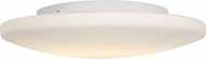 Access 50162LEDDLP-WH-OPL Orion Contemporary White LED 19  Flush Mount Lighting