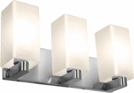 Access 50177-BS/OPL Archi Contemporary Brushed Steel 3-Light Lighting For Bathroom