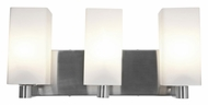 Access 50177-BS/OPL Archi�3 Lamp 18 Inch Wide Brushed Steel Vanity Lighting For Bathroom