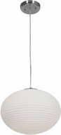 Access 50180-BS-OPL Callisto Modern Brushed Steel 15  Hanging Pendant Lighting