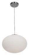 Access 50180-BS-wh Callisto Small 15 Inch Diameter Brushed Steel Finish Modern Lighting Pendant