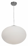 Access 50181-BS-wh Callisto 18 Inch Diameter Brushed Steel Contemporary Drop Lighting - Large