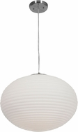 Access 50181LEDDLP-BS-OPL Callisto Contemporary Brushed Steel LED 18  Hanging Light Fixture