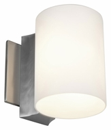 Access 50182-BS/OPL Tabo�Opal Glass 6 Inch Tall Small Brushed Steel Lighting Sconce