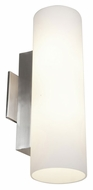 Access 50184-BS/OPL Tabo�Large 15 Inch Tall Brushed Steel Vanity Bath Sconce Lighting