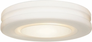 Access 50186LEDDLP-WH-OPL Altum Modern White LED 10  Flush Mount Light Fixture