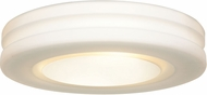 Access 50187LEDDLP-WH-OPL Altum Contemporary White LED 12.5  Flush Ceiling Light Fixture