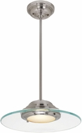 Access 50441LEDD-BS-8CL Phoebe Contemporary Brushed Steel LED 13.5  Drop Lighting