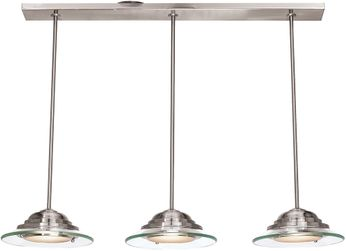 Access 50443LEDD-BS-8CL Phoebe Contemporary Brushed Steel LED Multi Drop Ceiling Lighting