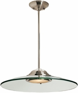Access 50444LEDD-BS-8CL Phoebe Contemporary Brushed Steel LED 19  Ceiling Light Pendant