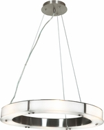 Access 50465LEDD-BS-FST Oracle Contemporary Brushed Steel LED 22  Ceiling Pendant Light
