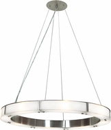 Access 50466LEDD-BS-FST Oracle Modern Brushed Steel LED 28  Drop Ceiling Light Fixture