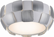 Access 50900-WH-CH Layers Contemporary Chrome & White Acrylic Fluorescent Overhead Light Fixture