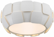 Access 50900-WH-WH Layers Contemporary White & White Acrylic Fluorescent Ceiling Lighting