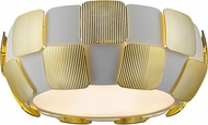 Access 50900LEDD-WH-GLD Layers Contemporary Gold & White Acrylic LED Flush Mount Ceiling Light Fixture