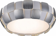 Access 50901-WH-CH Layers Contemporary White with Chrome Fluorescent 18  Flush Mount Ceiling Light Fixture