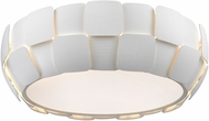 Access 50901-WH-WH Layers Contemporary White & White Acrylic Fluorescent Flush Mount Lighting
