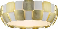 Access 50901LEDD-WH-GLD Layers Contemporary Gold & White Acrylic LED Ceiling Light Fixture
