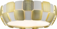 Access 50901LEDD-WH-GLD Layers Contemporary White with Gold LED 18  Overhead Light Fixture