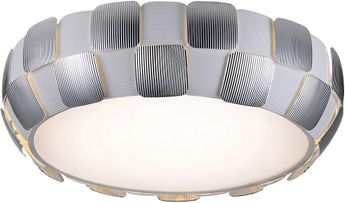 Access 50902LEDD-WH-CH Layers Contemporary White with Chrome LED 21.5  Overhead Lighting Fixture
