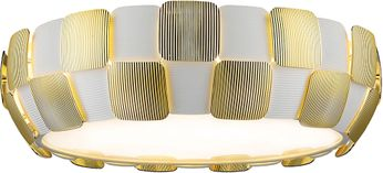 Access 50902LEDD-WH-GLD Layers Contemporary White with Gold LED 21.5 Ceiling Lighting