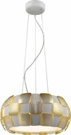 Access 50906-WH-GLD Layers Modern Gold & White Acrylic Fluorescent Hanging Pendant Light