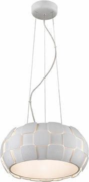 Access 50906-WH-WH Layers Contemporary White & White Acrylic Fluorescent Pendant Hanging Light