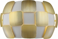 Access 50907LEDD-WH-GLD Layers Contemporary Gold & White Acrylic LED Wall Sconce Light