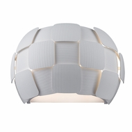 Access 50907LEDD-WH-WH Layers Modern White & White Acrylic LED Wall Sconce