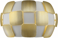 Access 50907LEDD-WH/GLD Layers Contemporary White with Gold LED Wall Lighting Fixture