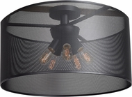 Access 50923LEDDLP-BL Epic Modern Black LED Medium Flush Ceiling Light Fixture