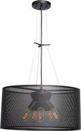 Access 50927LEDDLP-BL Epic Modern Black LED Small Drum Hanging Light Fixture