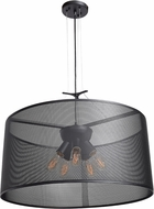 Access 50928LEDDLP-BL Epic Modern Black LED Medium Drum Drop Ceiling Lighting