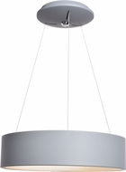 Access 50940LEDD-GRY-ACR Radiant Modern Gray LED Drum Lighting Pendant