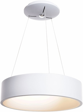 Access 50940LEDD-WH-ACR Radiant Contemporary White LED Drum Pendant Lamp