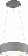 Access 50942LEDD-GRY-ACR Radiant Modern Gray LED Drum Pendant Lighting