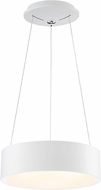 Access 50942LEDD-WH-ACR Radiant Contemporary White LED Drum Pendant Light
