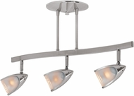 Access 52030-BS-OPL Comet Modern Brushed Steel Halogen 3-Light Track Lighting