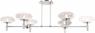 Access 52092LEDDLP-BS-CLR Grand Contemporary Brushed Steel LED Kitchen Island Lighting
