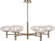 Access 52093LEDDLP-BB-CLR Grand Modern Brushed Brass LED Chandelier Light