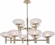 Access 52094LEDDLP-BB-CLR Grand Modern Brushed Brass LED Lighting Chandelier
