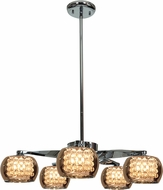 Access 52120-CH-MIR Glam Modern Chrome & Mirror, Clear Glass, Crystal Xenon Chandelier