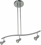 Access 52205LEDDLP-BS Cobra Contemporary Brushed Steel LED 3-Light Track Lighting Fixture